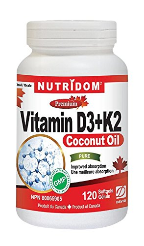 NUTRIDOM Vitamin D3 + K2 300mg 120 Softgels