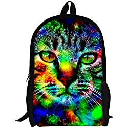 TOREEP Galaxy Print Casual School Backpack Outdoor Travel Bag(Small)
