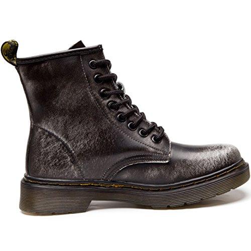 Knöchel grau Damen Gefüttert Plus Baumwolle Stiefel Klassischer Schneestiefel Leder Boots Herren Warme JACKSHIBO Winter Stiefeletten w1d6qaIqx