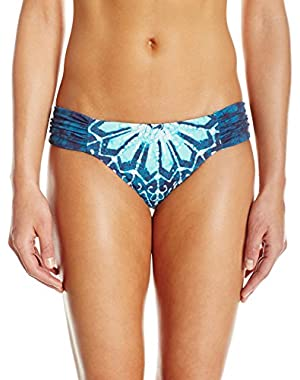 Women's Batik Chic Reversible Side Sash Hipster Bikini Bottom