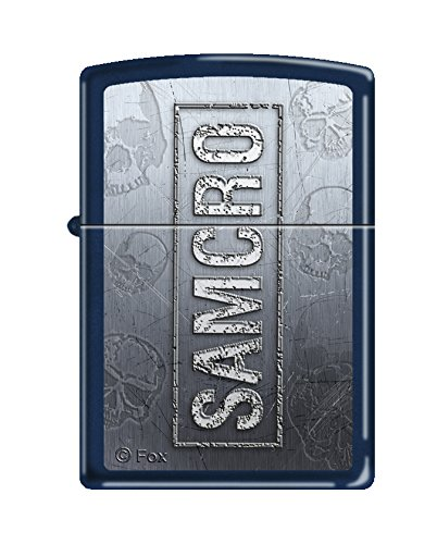 Navy Matte Lighter - Zippo Sons of Anarchy Samcro Navy Matte Pocket Lighter
