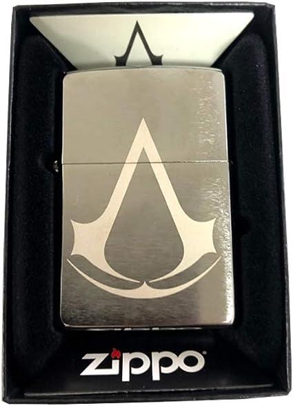 Amazon Com Zippo Custom Lighter Brushed Chrome Assassin S Creed