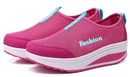 Adult Womens Shape Ups Mesh Walking Shoes Casual Fashion Sneakers Pink t4kapXoM