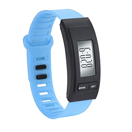 squarex Reloj de Pulsera Cuadrado para Hombre, con podómetro, Contador de calorías, Pantalla