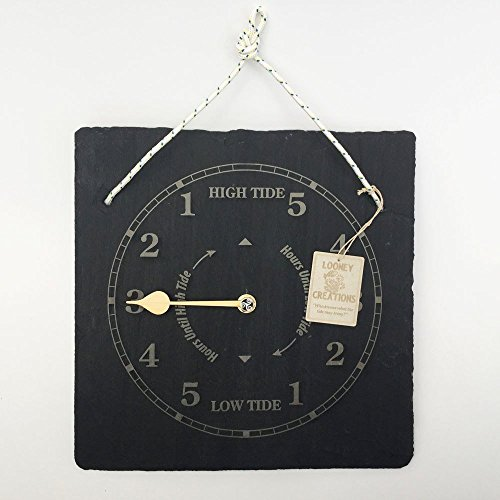 Slate Tide clock-wall hanging.Lovely coastal housewarming idea for ocean and sea users.