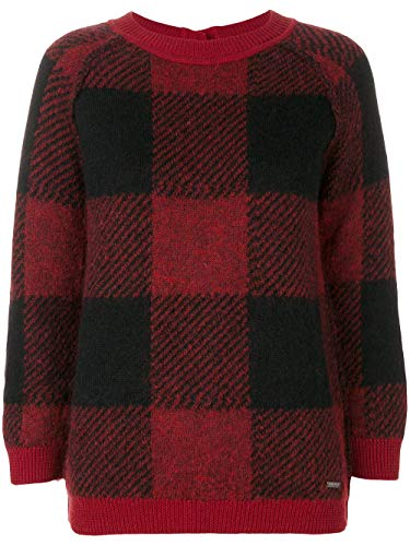 Woolrich Nero Lana Maglione rosso Donna Wwmag1677bs01 S11qZwng8x