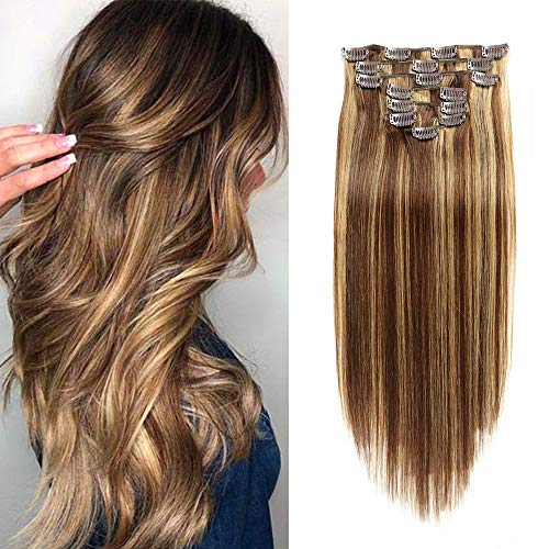 Real Yaki Hair Extensions Clip in Human Hair