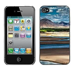Cubierta de la caja de protección la piel dura para el Apple iPhone 4 / 4S - Funny Hole Message
