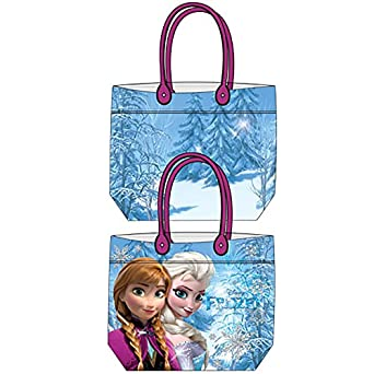 Amazon.com: Disney Frozen Anna & Elsa Girls Beach Tote Bag - Blue ...
