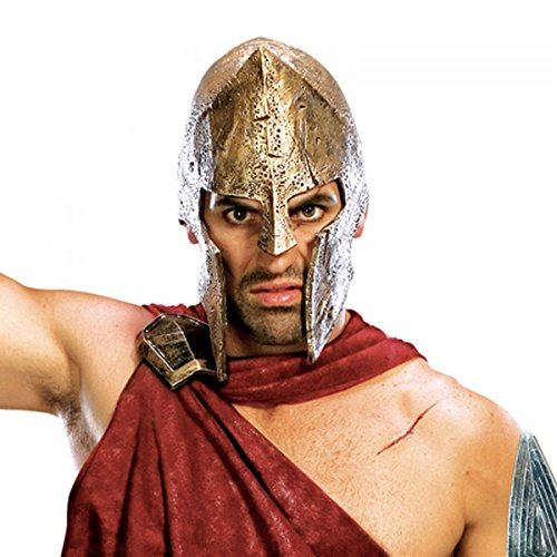 [Spartan 300 Men's Adult Deluxe Greek Warrior Costume Helmet Mask] (Mens Greek Spartan Warrior Costumes)