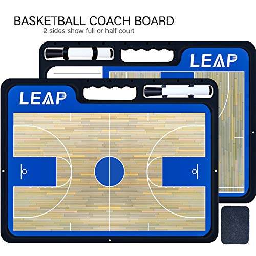 LEAP Coach Basketball Board Tactical Coaching 2 Sides for sale  Delivered anywhere in USA