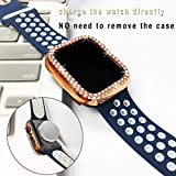 ISENXI Compatible with Apple Watch Case 42mm,5 Pack PC Plated Hard Bumper Bling Crystal Diamonds Glitter Frame Protective Cover Compatible for Apple iWatch Series 3 Series 2 Series 1 42mm