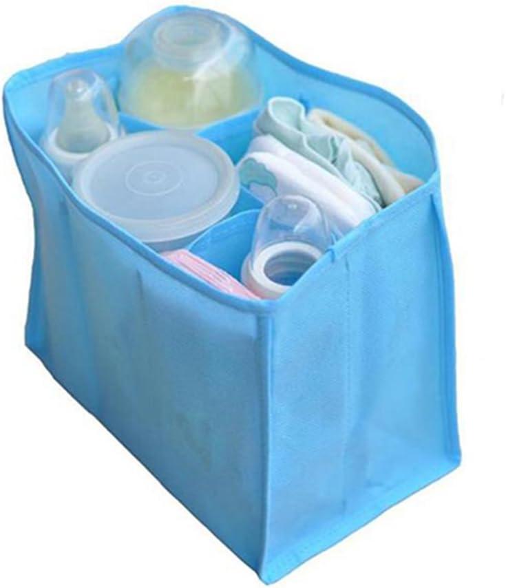 Mutter Travel Bag Windeltasche f/ür die Aufbewahrung Baby-Windel Kleidung Windeln Flasche Wickeltasche L, Blau