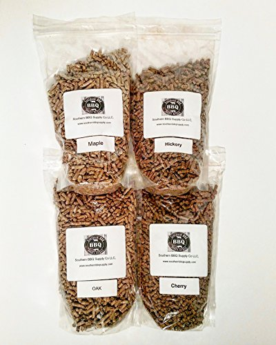 4 Pack Variety BBQ Wood Pellets 8 lbs total by Southern BBQ Pellets