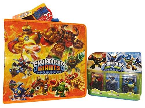 Skylanders SWAP Force Triple Character Pack and Giants Carry & Display Case 2 Piece Bundle