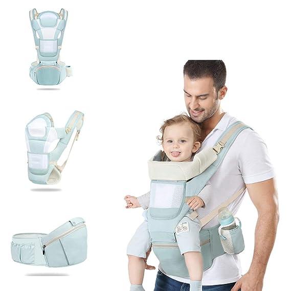HBIAO Recién Nacidos Baby Carrier, Taburete de la Cintura algodón ...