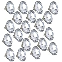 Clear Crystal Sunflower Diamond 25mm Diameter Upholstery Sofa Headboard Sew Buttons Pack of 20