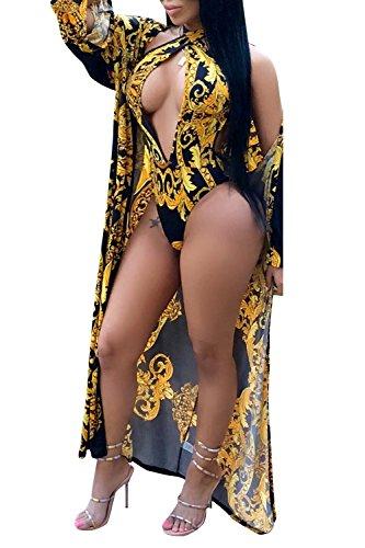 Gold-White Fashion Bikini Set in Australia - 1