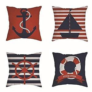 516K4yoFKvL._SS300_ 100+ Nautical Pillows & Nautical Pillow Covers