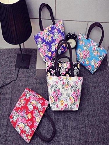Tote de Hombro Girls Shopping Las ✦JiaMeng Shopper Printing Handbag Mujeres Canvas Moda Bag la Bolsos Mujer de Negro Hombro 1dwqn6FFZ