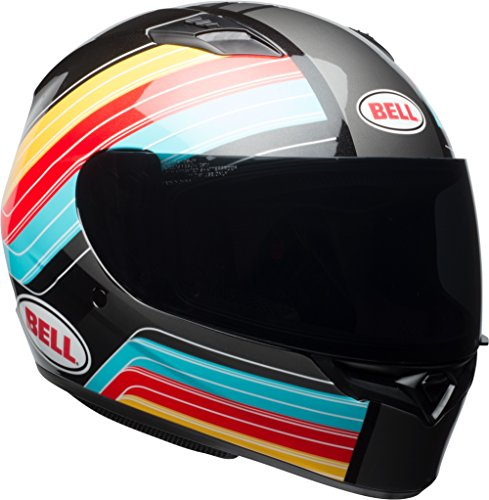 Bell Qualifier Command Full-Face Motorcycle Helmet (Gloss Blue/Red/Yellow, Medium)