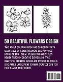 Easy Flower Coloring Book for Seniors: Flowers