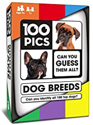 100 PICS Dogs Quiz Card Game - Travel Flash Card Puzzle Games for Kids and Adult Dog Lovers
