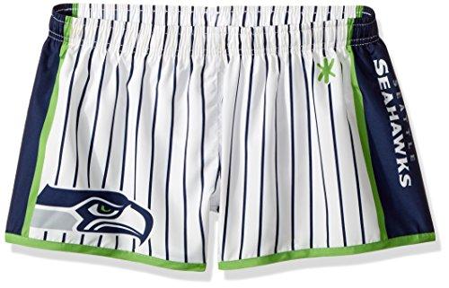 FOCO Seattle Seahawks Womens Pinstripe Polyester Short Medium