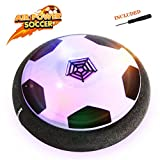 Image of EpochAir Hover Ball, Kid Toys, Girl and Boy Gifts, Hockey Soccer 2-in-1 Pneumatic Suspension Floating with Foam Bumpers and Colorful LED Lights for Indoor & Outdoor Games, Mini Screwdriver INCLUDED