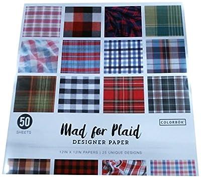 "ColorBok 68231B Designer Paper mad for plaid, 12"" X 12"""