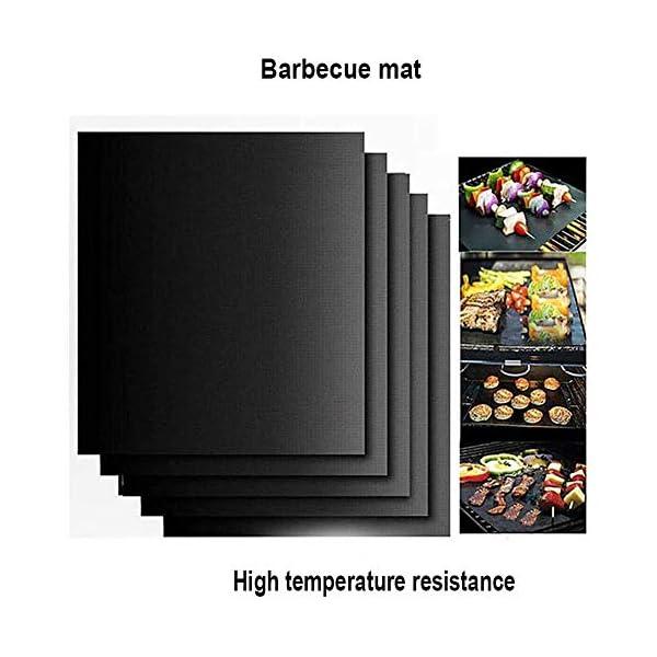 BZZBZZ Set di Attrezzi per Barbecue 11PCS, Kit di Combinazione Barbecue in Acciaio Inossidabile con Tote Bag per… 2 spesavip