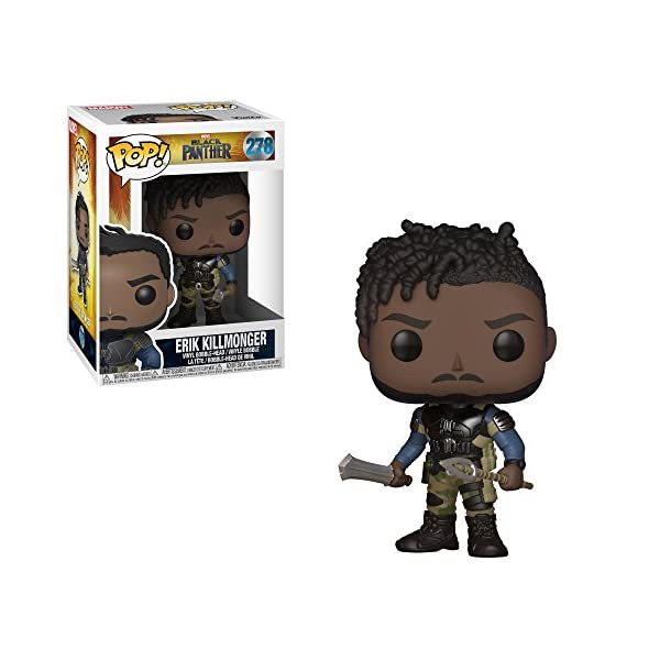 Funko Pop! Marvel: Black Panther Movie-Erik Killmonger (Styles May Vary) Collectible Figure 2
