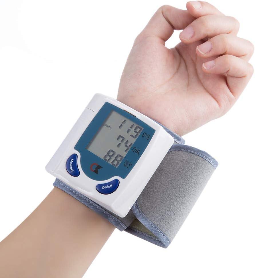AirMood Monitor de presión Arterial de la presión Arterial de muñeca Hogar Médico Arterial de muñeca Monitor LCD Digital Tonómetro automática esfigmomanómetro tensiómetro