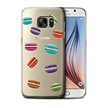 STUFF4 Phone Case / Cover for Samsung Galaxy S6/G920 / Macaron Design / Pieces of Food Collection