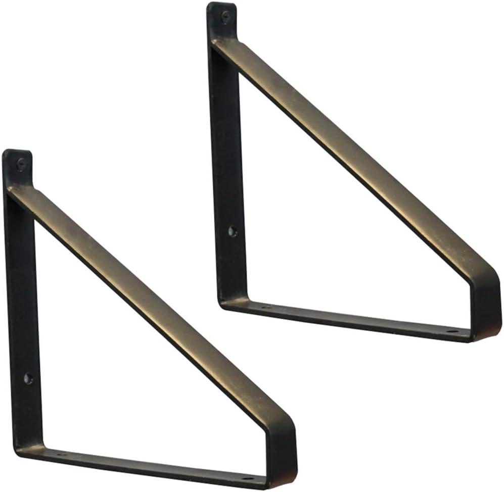 escuadras para estanterias Soporte de estante flotante de hierro alta resistencia montado en la pared,esquina sólido de metal en forma de L, adecuado para habitaciones de sala de cocina etc, 2 pieza