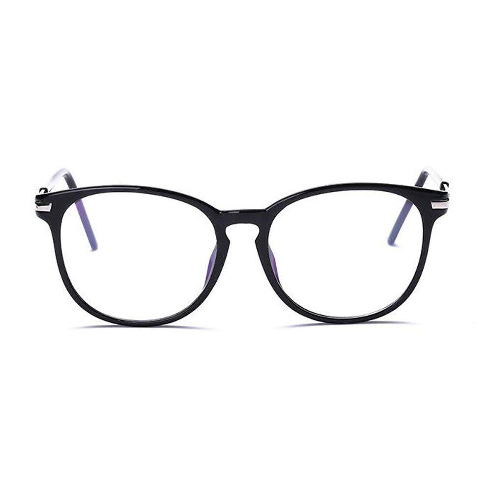Hzjundasi Luce blu Filtro Computer Bicchieri Anti-radiazioni UV Lente chiara Vintage Il giro Occhiali Uomo//Donna