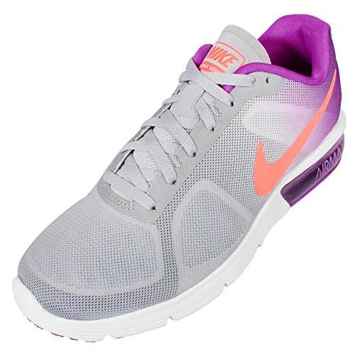 Nike Vrouwen Wmns Air Max Sequent, Wolf Grijs / Hyper Oranje-levendig Paars-wit, 6 Ons