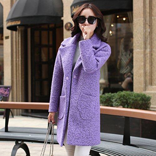 WanYang Parka Abrigo de Abrigos Lana Jacket Púrpura Grueso Mujeres Chaqueta Invierno Capa Mujer Elegante Fw7xBnfFr