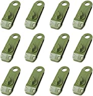 TRIWONDER 12pcs Tarp Clips, Camping Awning Clamp Clips Tent Tighten Lock Grip Sliding-Lock Grip for Outdoors A