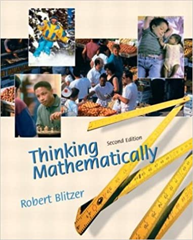 Thinking mathematically 2nd edition robert f blitzer thinking mathematically 2nd edition 2nd edition by robert f blitzer fandeluxe Choice Image
