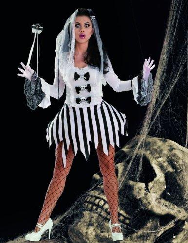 Escante Women's Ghost Girl, White/black, Large