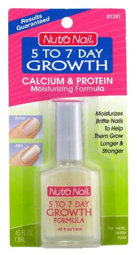 Nutranail 5 to 7 Day Growth .45 oz. (Calcium Formula) (3-Pack) with Free Nail File