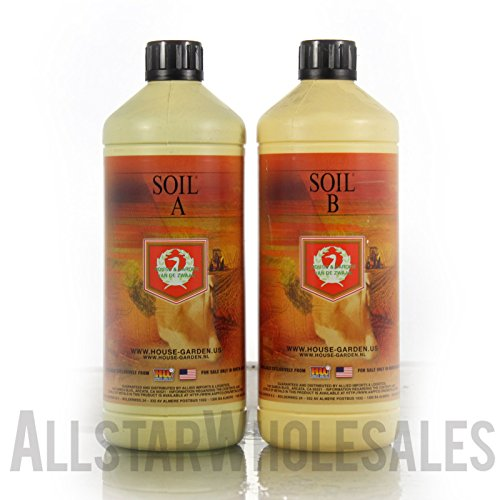 (House & Garden Soil A&B 1L Nutrients Set 2-Part Base, 1 Liter ..#G4E435T1 34452-3T84235)