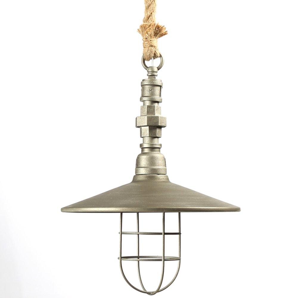 Retro Edison Pendant Light, 1 Light Semi Flush Mount Ceiling Light, Industrial/Country Style Pendant Lamp, Galvanized Steel Finish