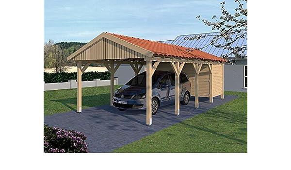 CarPort (tejado) Monte Carlo X 400 cm x 800 cm, con Dispositivo habitación: Amazon.es: Jardín