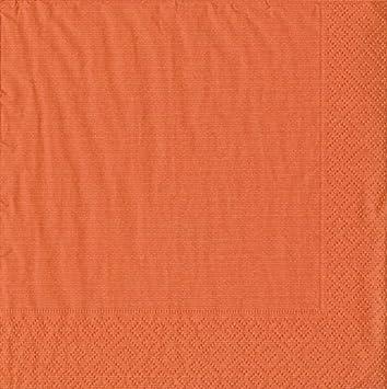 Pack of 20 Red Caspari Grosgrain Paper Luncheon Napkins