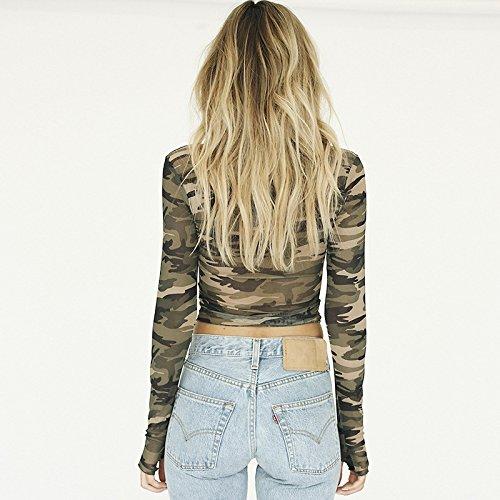 Leezeshaw - Camisas - para mujer Camuflaje