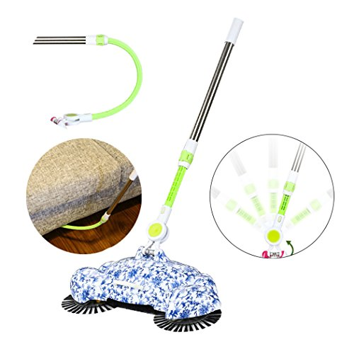 Manual Sweeping Machine, Inkach 360 Rotary Home Floor Dust Hair Sweeper Hand Push Magic Telescopic Household Brooms by Inkach (Image #1)