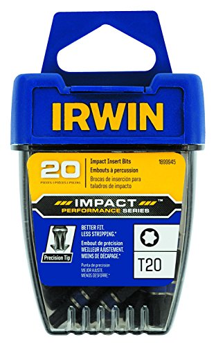 IRWIN 1899945 Impact Performance Series Screwdriver Insert Bit, T20 Torx, 1-Inch