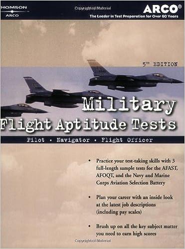 Amazon.com: Military Flight Aptitude Tests, 5/e (Peterson's Master ...